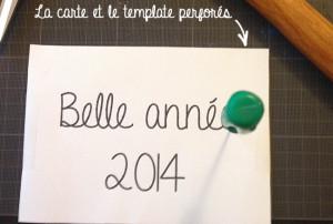 Tuto : La carte brodée de la nouvelle année